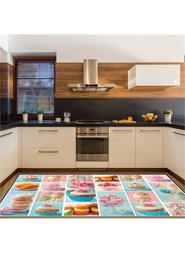 Halı Renkli Kekler Modern Mutfak Halıları 80X150Cm Renkli